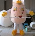 huevo entero traje de la mascota de huevo para adultos traje