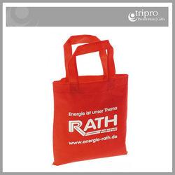 Custom logo printed promotional cheap non woven shopping bags
