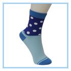 knitted tube women socks with polka dot