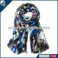 Unique multi colored stone Pattern digital silk scarf printing