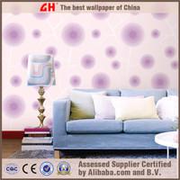 Personality emboss 3d wallpaper spring leave vinyl coated wallpaper