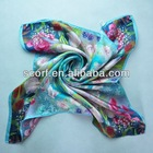 Autumn Spring Printing Beauty Ladies Silk Scarf