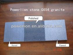 brushed finish+flamed g654 granite