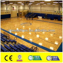 PVC Plastic Flooring PVC Sports Flooring In Roll For Basketball Court