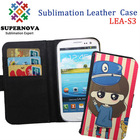 Sublimation leather flip case for samsung galaxy s3