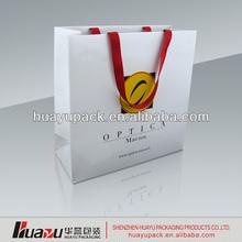New arrival white kraft paper bag for Christmas gift