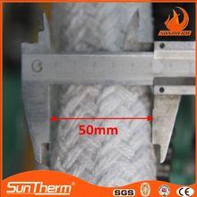 Low thermal conductivity ceramic fiber rope