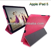 China manufacture wallet leather flip cover tablet case for ipad air 5