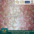impressão digital têxtil bordado de flores de tule tecido de malha ar
