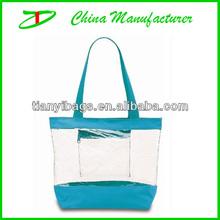 womens beautiful pvc clear tote bag
