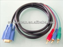 rca male vga female cables 15Pin male to male VGA cable for Projector/Computer/PC/Laptop