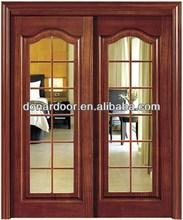 Exterior Solid Rubber Wood Glazed Sliding Modern Doors Design