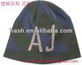 เส้นด้าย- ย้อมรูปแบบตัวอักษรแฟชั่นถักหมวก