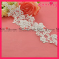 Chegada nova flor branca de renda para vestidos de noiva wls-524
