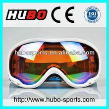 Beautiful ladies white outdoor sports UV400 skiing snow goggles