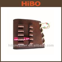 Leather gun stock bullet holder