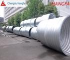 Corrugated culvert drain pipe