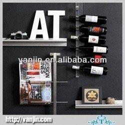 Wall Mounted 7 Bottles Acrylic Red Wine Bottle Display Rack 9061410220