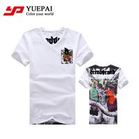 wholesale mens slim fit short sleeve 100 cotton deep v neck t shirts for men
