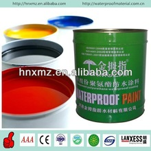 Elastomeric single component polyurethane waterproof paint shower