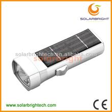 SOLARBRIGHT rechargeable waterproof led emergency aluminum led waterproof solar small powerful led flashlight