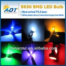 hot selling T4.2 5630 smd led Lights, DC12V LED light bulbs Car Dashboard lights instrument lamps