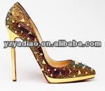 fashion metal rivets ladies high heel dress shoes