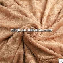 Fashion PV brushing flower composite blanket