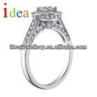Western Style silver wedding ring