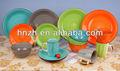 pièces en céramique personnalisée 16 fiesta vaisselle ensembles de gros