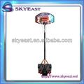 baloncesto soporte portátil de tablero de aro neto conjunto de altura regulable con ruedas