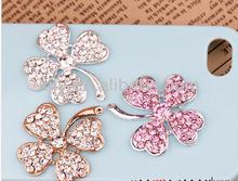 flower bling bling hardware fitting with rhinestones for mobile beauty
