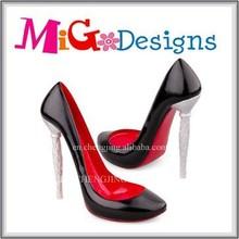 wholesale ladies shoes high heel girls high heels Shoe Wine Bottle Holder Black High Heel