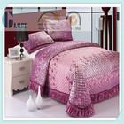 Purple victorian bedding patchwork quilt