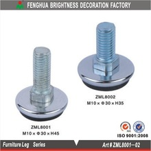 Chrome decorative metal furniture legs, stainless steel chrome furniture legs(ZML8001)