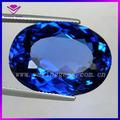 sintético de forma ovalada de corindón zafiro azul