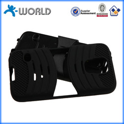 2 in 1 silicone and hard pc solid quality with clip mobile phone case for samsung s5