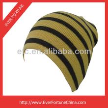 Acrylic custom high quality toque knitted thin men long beanie hats