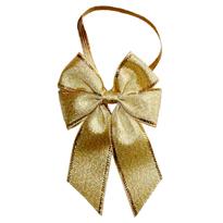 Wholesale elastic fabric mini satin ribbon bows with elastic loop