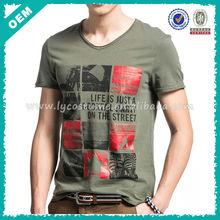 Soft cotton custom tshirt for men,suit adult t shirt v neck,short boys fashion t-shirt print design factory(lyt0300062)