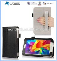 china manufacturer wallet PU leather case for samsung galaxy tab 4 with handheld credit card holder