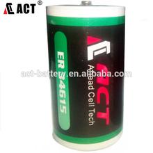 3.6 Volt 19 Ah D Lithium Battery w/Tabs can replace TADIRAN TL2300, TL5930, SAFT LS-33600 battery