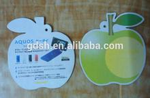 classic green apple shape car air freshener for car green apple scent
