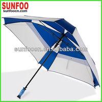 Silica gel two layers square golf umbrella