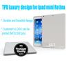 Shinning TPU Eco-friendly material back case elegant soft tablet skin cover for ipad mini/mini 2