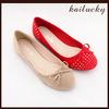 2014 new ballet flat suede lady shoe