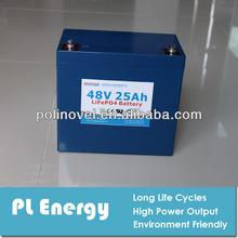 48v 25ah ricaricabile lifepo4 pack per bicicletta elettrica