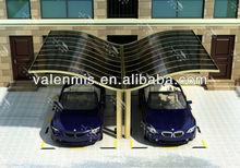 A single black German import polycarbonate plate carport 5.5*3m