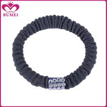 Custom chunky grey crochet hair ties for men