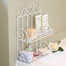 White Wire Two Tier bath storage